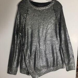 Romeo + Juliet Couture Silver Metallic Sweater M